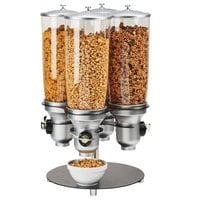 Cal-Mil 3619-4-13FF 5 Liter Four Canister Rotating Free Flow Cereal Dispenser