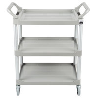 Rubbermaid FG342488PLAT Platinum Three Shelf Utility Cart / Bus Cart 33 x 18 x 37 (FG342488PLAT)