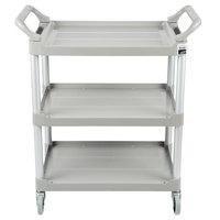 Rubbermaid FG342488PLAT Platinum Three Shelf Utility Cart / Bus Cart 33 x 18 x 37 (FG342488PLAT)