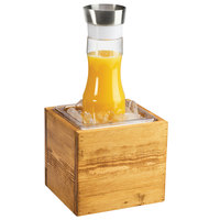 Cal-Mil 3360-6 Madera Reclaimed Wood Ice Housing - 7 3/4 inch x 7 inch x 7 inch