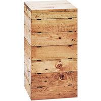 Cal-Mil 3627-99 Madera Rustic Pine Square Crate Riser - 9 inch x 9 inch x 18 inch