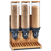 Cal-Mil 3584-3-99 Madera 4.5 Liter Triple Canister Cereal Dispenser