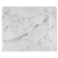 Cal-Mil 3629-1813-81M Carrara Marble Melamine Serving Board - 18 inch x 13 inch x 1/2 inch