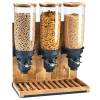 Cal-Mil 3576-3-99FF Madera 15 Liter Triple Canister Free Flow Cereal Dispenser