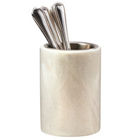 Cal-Mil 3630 Marble Flatware Holder - 5 inch x 7 1/4 inch