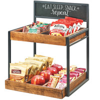 Cal-Mil 3607-13 Two Tier Merchandiser with Chalkboard Sign - 15 inch x 14 inch x 19 inch