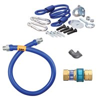 48 inch Dormont 1650BPQR Safety System SnapFast Gas Connector Kit with Coiled Restraining Device - 1/2 inch Diameter