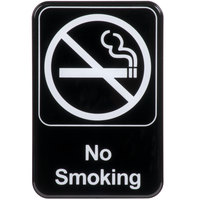 No Smoking Sign - Black and White, 9 inch x 6 inch
