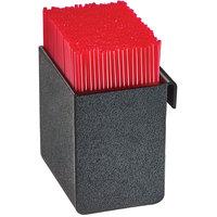Cal-Mil 3573-13 Black Slanted Organizer Plastic Stir Stick Holder - 3 1/2 inch x 3 3/8 inch x 4 inch