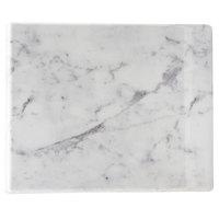 Cal-Mil 3629-712-81M Carrara Marble Melamine Serving Board - 12 inch x 7 inch x 1/2 inch