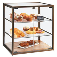 Cal-Mil 3610 3 Tier Vintage Bakery Display Case with Wood Base - 21 inch x 17 inch x 23 1/4 inch