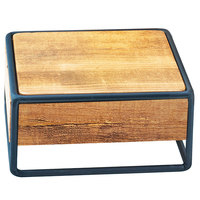 Cal-Mil 3562-3-99 Madera Rustic Pine Industrial Square Riser - 8 inch x 8 inch x 3 1/2 inch