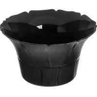 Carlisle 693103 Petal Mist 3.4 Qt. Black Polycarbonate Bowl