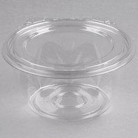 Dart CTR16BF SafeSeal 16 oz. Plastic Tamper-Resistant, Tamper-Evident Bowl with Flat Lid - 60/Pack