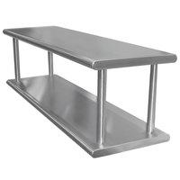 Advance Tabco PA-18-108-2 Pass-Through Shelf with Overshelf - 108 inch x 18 inch