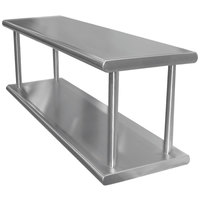 Advance Tabco PA-18-72-2 Pass-Through Shelf with Overshelf - 72 inch x 18 inch