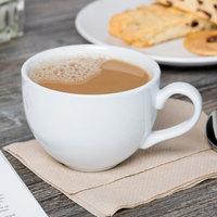 Tuxton BPF-1201 Duratux 12 oz. Porcelain White China Cappuccino Cup - 24/Case