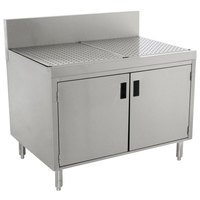 Advance Tabco PRSCD-19-42-M Prestige Series Enclosed Stainless Steel Drainboard Cabinet with Doors and Shelf - 42 inch x 25 inch