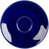 Tuxton BCE-0631 6 3/8 inch Cobalt Cappuccino China Saucer - 36/Case