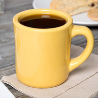 Tuxton BSM-0802 DuraTux 9 oz. Old Time Saffron Mug   - 24/Case