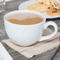 Tuxton BPF-1601 DuraTux 16 oz. Bright White China Cappuccino Cup - 24/Case