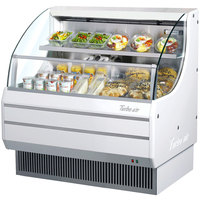 Turbo Air TOM-40L 39 inch White Low Profile Horizontal Air Curtain Display Case