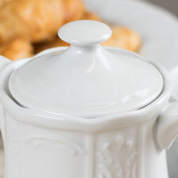 Tuxton CHT-170L Chicago Bright White China Teapot Lid   - 12/Case