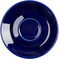 Tuxton BCE-0451 4 5/8 inch Cobalt Cappuccino China Saucer - 36/Case