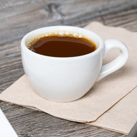 Tuxton BPF-0301 Duratux 3 oz. Porcelain White China Cappuccino Cup - 24/Case