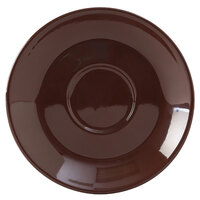 Tuxton DME-0451 Duratux 4 5/8 inch Mahogany Cappuccino China Saucer - 24/Case