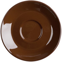 Tuxton DME-0451 Duratux 4 5/8 inch Mahogany Cappuccino China Saucer - 24/Case
