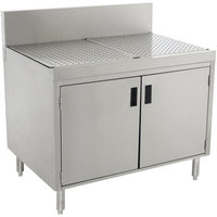 Advance Tabco PRSCD-19-36-M Prestige Series Enclosed Stainless Steel Drainboard Cabinet with Doors and Shelf - 36 inch x 25 inch