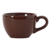 Tuxton DMF-0301 Duratux 3 oz. Mahogany China Cappuccino Cup - 24/Case