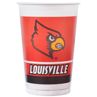 Creative Converting 374760 20 oz. University of Louisville Plastic Cup   - 96/Case