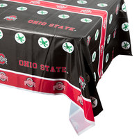 Creative Converting 318563 54 inch x 108 inch Ohio State University Plastic Table Cover - 12/Case