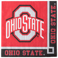 Creative Converting 318559 Ohio State University 2-Ply Beverage Napkin - 240/Case