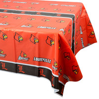 Creative Converting 724760 54 inch x 108 inch University of Louisville Plastic Table Cover - 12/Case