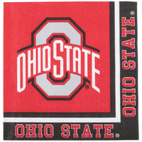 Creative Converting 318562 Ohio State University 2-Ply 1/4 Fold Luncheon Napkin - 240/Case