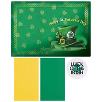 Hoffmaster 856747 10 inch x 14 inch St. Patrick's Day Placemat Combo Pack   - 200/Case