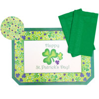 Hoffmaster 856719 10 inch x 14 inch St. Patrick's Day Placemat Combo Pack   - 200/Case