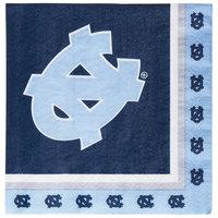 Creative Converting 664889 University of North Carolina 2-Ply 1/4 Fold Luncheon Napkin - 240/Case