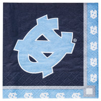 Creative Converting 654889 University of North Carolina 2-Ply Beverage Napkin - 240/Case