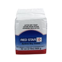 Lesaffre Red Star Bakers Active Dry Yeast 2 lb. Vacuum Pack - 12/Case