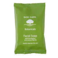 Basic Earth Botanicals Hotel and Motel Wrapped Facial Soap 0.705 oz. Bar - 400/Case