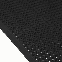 Cactus Mat 4420-CSWB VIP Duralok 3' 2 inch x 5' 1 inch Black Anti-Fatigue Anti-Slip Floor Mat with Beveled Edge - 3/4 inch Thick