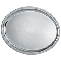 Vollrath 82111 Elegant Reflections 21 3/4 inch x 16 inch Stainless Steel Oval Catering Tray