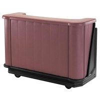 Cambro BAR650DX189 Two-Tone Brown Mahogany Cambar 67 inch Portable Bar with 7-Bottle Speed Rail, Cold Plate, and Pre-Mix System