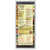 4 1/4 inch x 11 inch Menu Solutions ALSIN41-ST Alumitique Single Panel Brushed Finish Aluminum Menu Board with Top and Bottom Strips