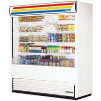 True TAC-72-LD White Vertical Air Curtain Refrigerator