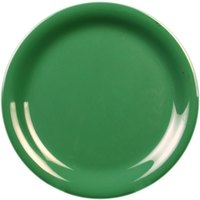 Thunder Group CR110GR 10 1/2 inch Green Narrow Rim Melamine Plate - 12/Pack